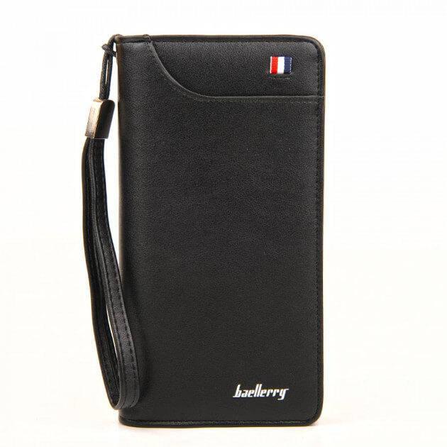 Мужской кошелек, портмоне Baellerry Classic France эко-кожа черный