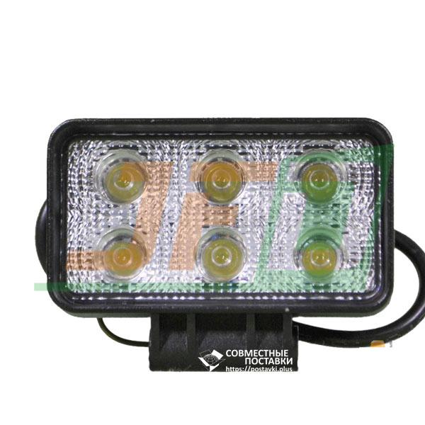 18W / 60 (6 x 3W / широкий луч, прямоугольний корпус) 1320 LM LED фара рабочая 1046 (GF-006Z03B)