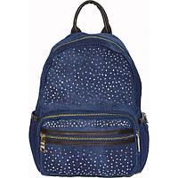 Рюкзак №6-4 джинс Синий с коричневым, фото 1