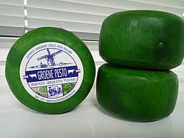 Сыр голландский авторский Berkhout Groene Pesto Песто цена за шт (450-500г)