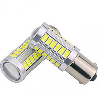 Габарит LED IDIAL 475 P21W 33 SMD High power BA15S 450 lm 6000K 12Vбл. (2шт), фото 1