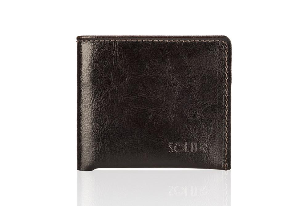 Кожаный кошелек коричневый SW05B