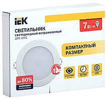 Светильник ДВО 1602 белый круг LED 7Вт 4000К IP20 IEK