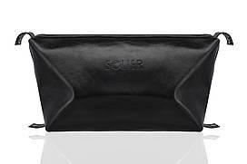 Шкіряна чоловіча сумочка чорна SK01 Black