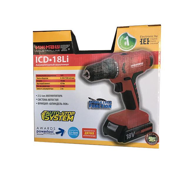 Шуруповерт аккумуляторный Ижмаш Industrialline ICD-18Li