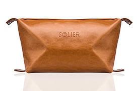 Шкіряна чоловіча сумочка світло коричнева SK01 Camel
