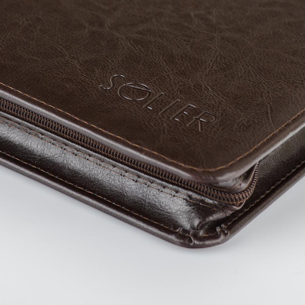 Папка - A4 для документов формата A5 коричневая Solier ST02