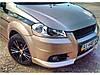 Накладка на передний бампер Chevrolet Aveo Т250 Клыки Шевроле Авео