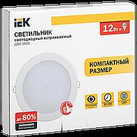 Светильник ДВО 1605 белый круг LED 12Вт 4000K IP20 IEK