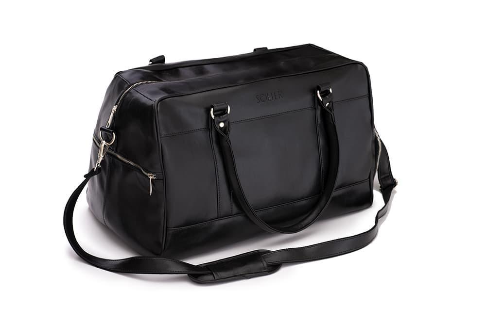 Спортивна дорожня сумка GOVAN на плече чорна Solier S18