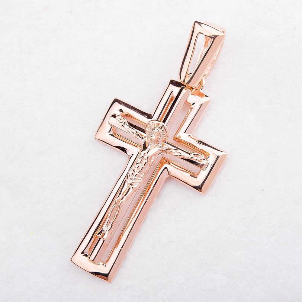Золотой православный крестик гп01657