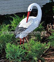 Набивная садовая фигура Аист большой на металлических лапах, фото 3