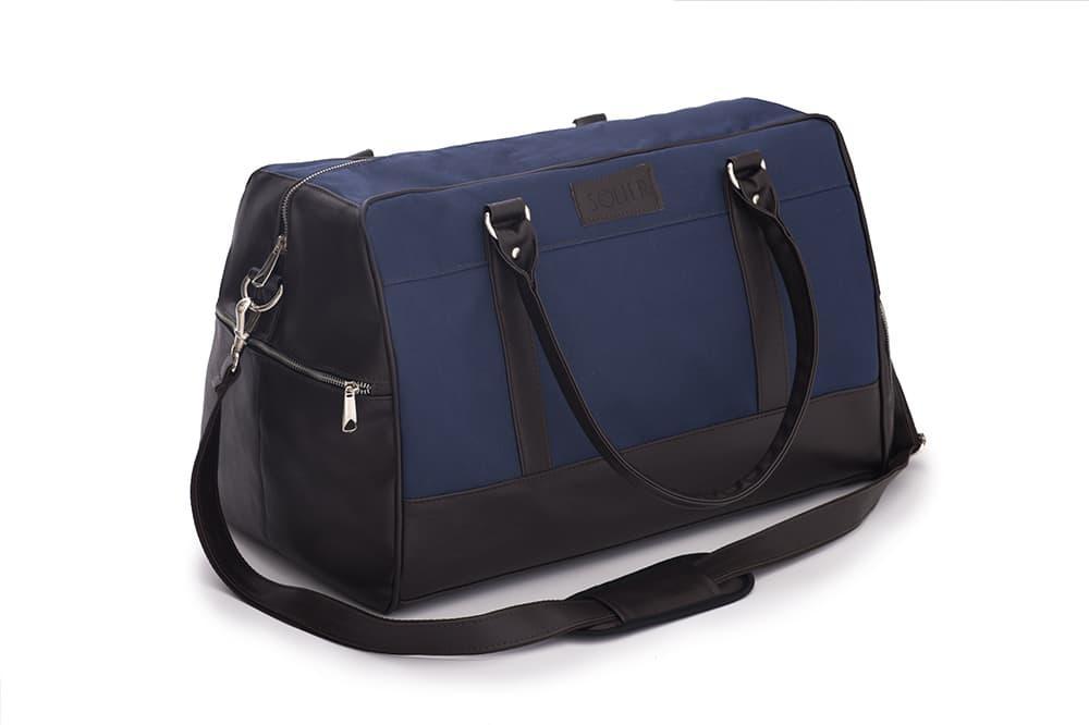 Спортивная дорожная сумка GOVAN на плечо сине коричневая Solier S18