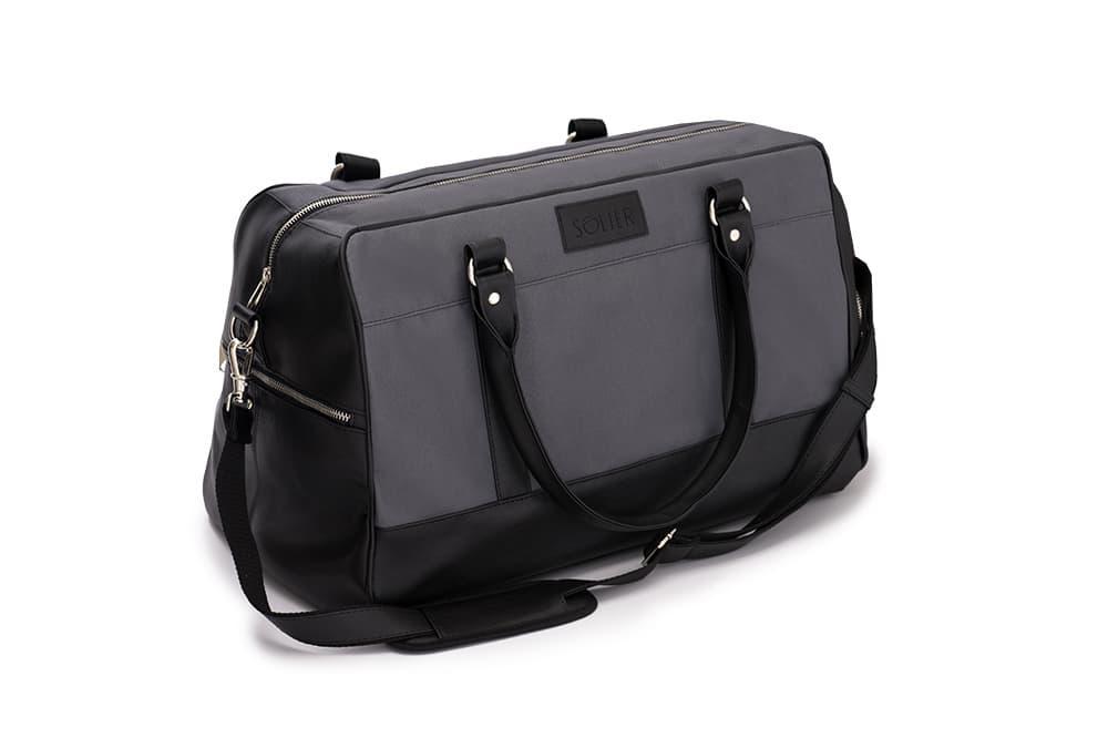 Спортивная дорожная сумка GOVAN на плечо Серо-черная Solier S18