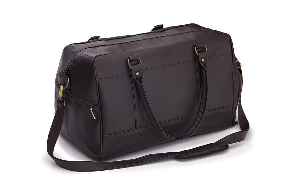 Спортивная дорожная сумка GOVAN на плечо темно коричневая Solier S18