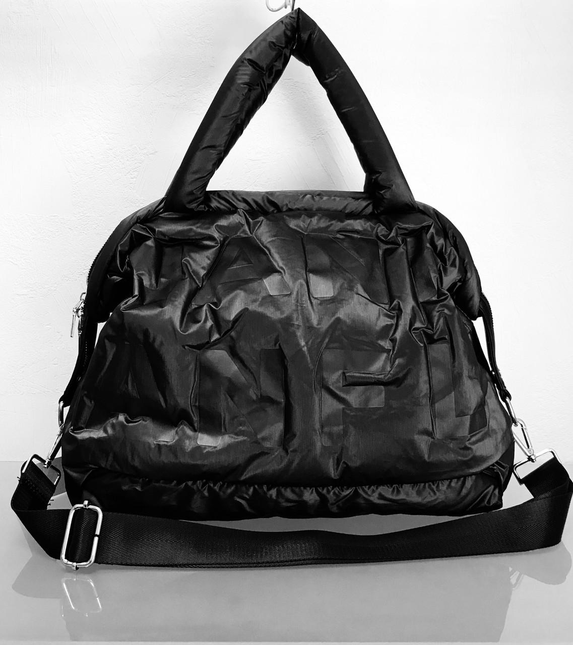 1a6805a69 Сумка бренд LUX копия чёрная стеганая текстиль - Интернет-магазин