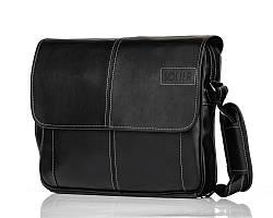 Модна сумка чоловіча на плече чорна Solier S15