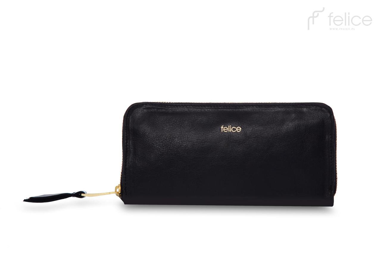 Кошелек женский кожаный черный Felice P02
