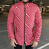 Supreme x Louis Vuitton Jacquard Monogram Red Parka Jacket