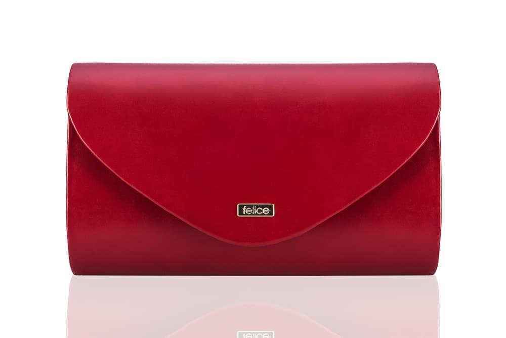 Клатч женский красный мат Felice F15