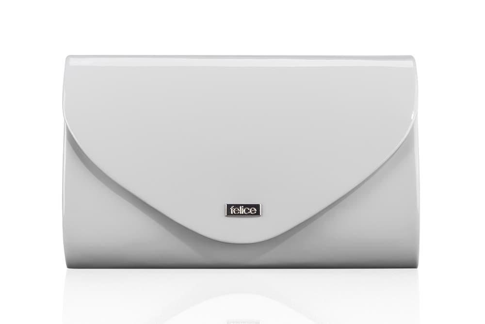Клатч жіночий світло сірий Felice F15