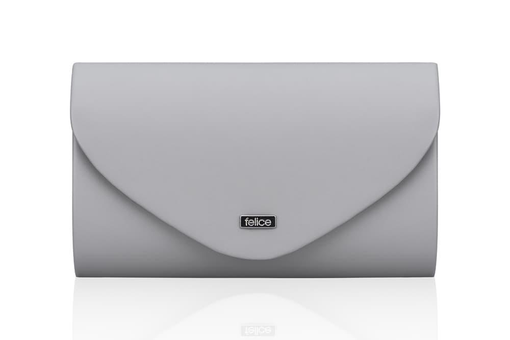 Клатч женский серый мат Felice F15