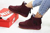 Высокие подростковые кроссовки Nike Air Force - найк аир форс с мехом   кросівки  підліткові ( 3f1bfab79d87c