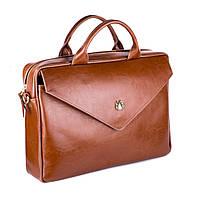 Кожаная женская сумка для ноутбука коричневая Felice Fl15, фото 1