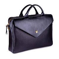 Кожаная женская сумка для ноутбука черная Felice Fl15, фото 1