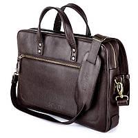 Кожаная сумка для ноутбука Коричневая Solier SL04 , фото 1