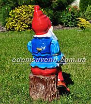 Садовая фигура Гном писатель, фото 3