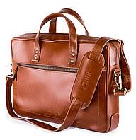 Кожаная сумка для ноутбука Светло - коричневая Solier SL04 , фото 1