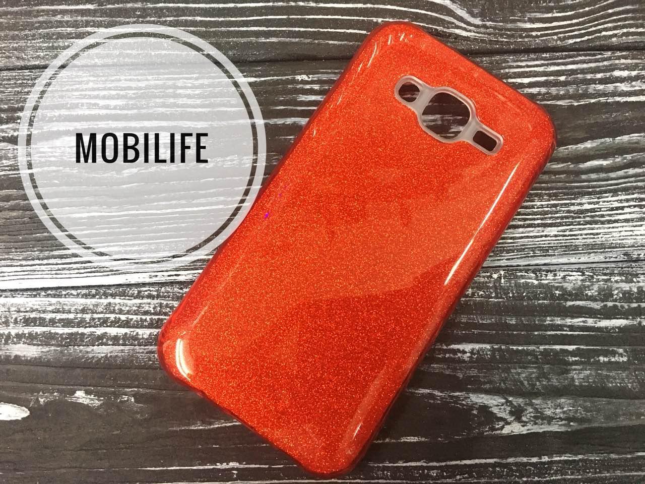 Силиконовый Чехол Shine Samsung J5 2015 (J500) красный