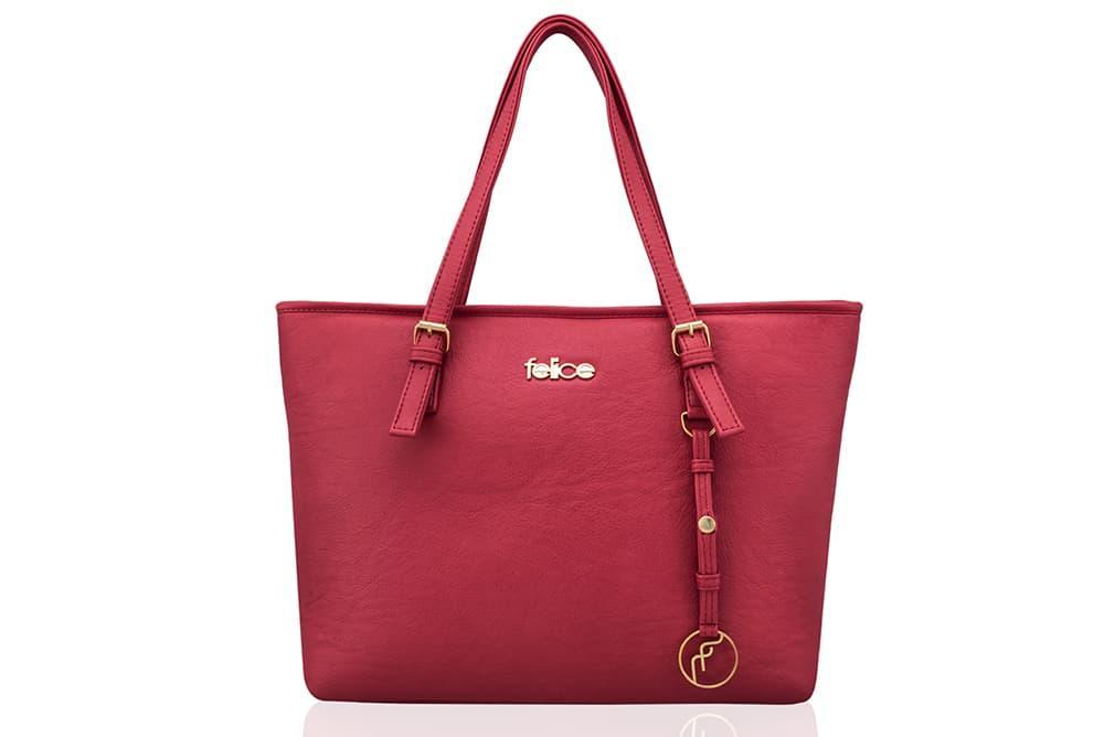 Женская кожаная сумка для Малиновая Felice LunaRASPBERRY