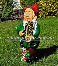 Садовая фигура Гном музыкант, фото 2