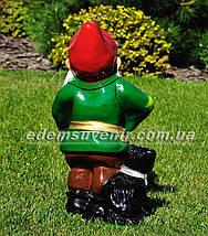 Садовая фигура Гном музыкант, фото 3