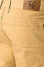 Брюки мужские укороченные с подворотами 895K002 (Горчичный), фото 3
