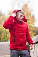Курточка зимняя мужская, цвет красный, фото 1