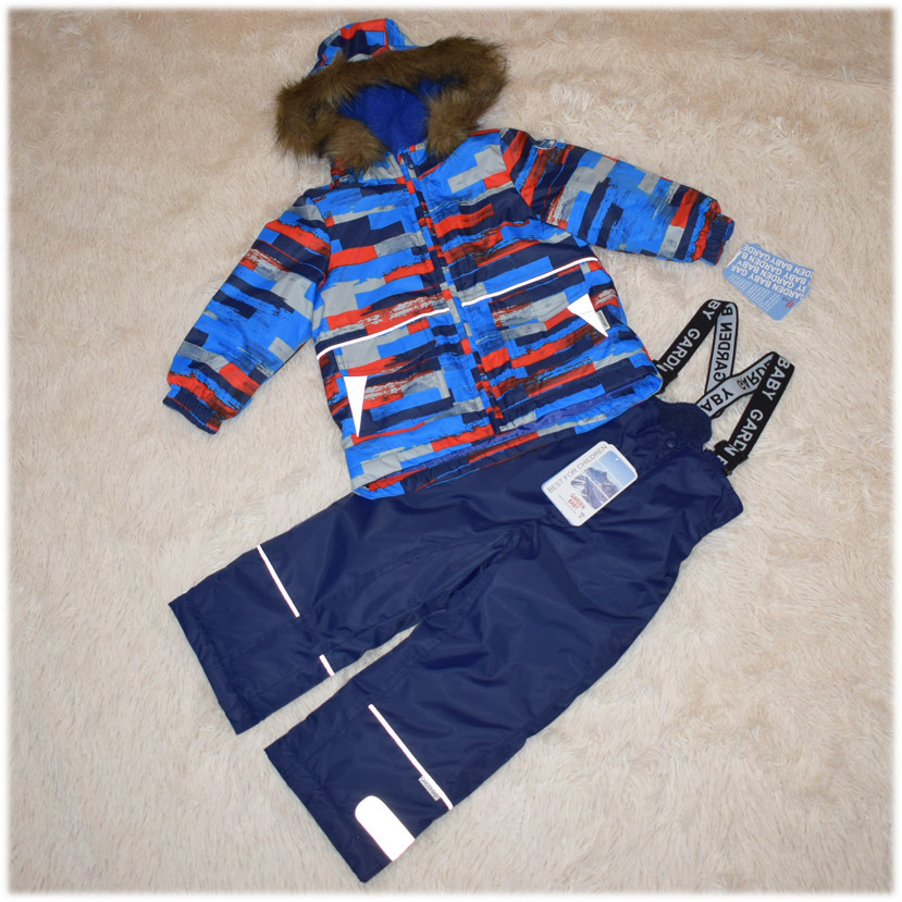 Куртка+полукомбинезон зима термо Garden Baby для мальчика синий размеры 80 86 92 98 104