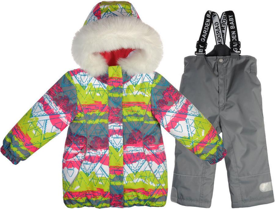 Куртка+полукомбинезон зима термо Garden Baby для девочки малиновый  размеры 92