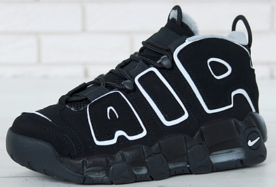 Мужские кроссовки Nike Air More Uptempo Winter Black White 5fdbe5eb2fefb