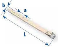 Ремень с пряжкой, длина 300мм
