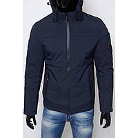 Куртка мужская зимняя SLS 7562-2 Soft Shell синяя реплика