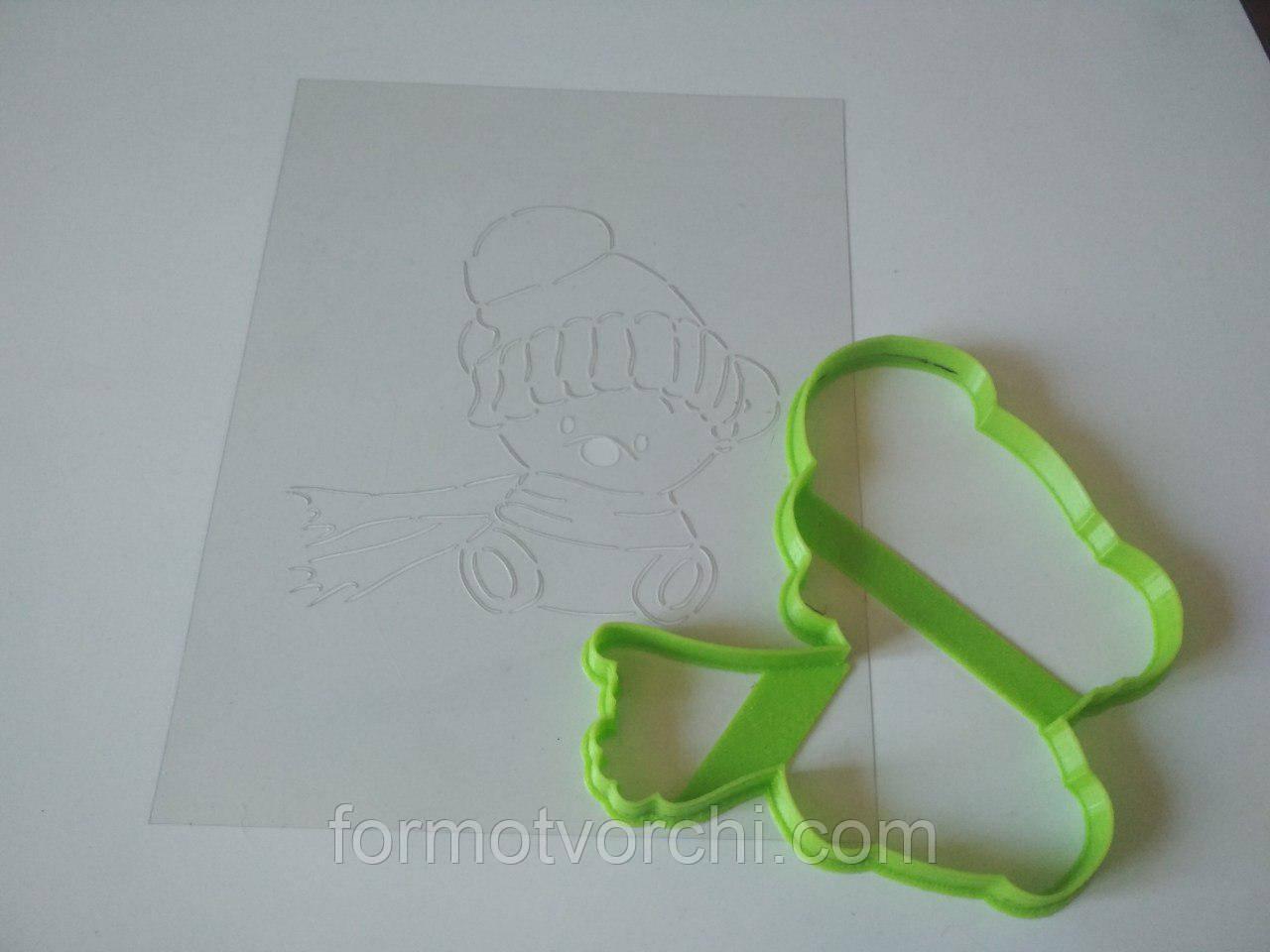 """3D формочки-вырубки для пряников """"Мишка в шапочке"""""""