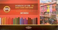 Пастель Koh-i-Noor, сухая мягкая TOISON D'OR 48 шт 8586 (8586048001KS) (8593539110828), фото 1