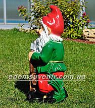 Садовая фигура Гном лесоруб, фото 3
