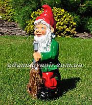 Садовая фигура Гном лесоруб, фото 2