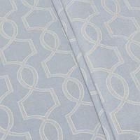 Декоративная ткань, абстракция нежно-голубой