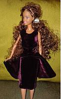 Одежда для куклы Барби, вечернее платье из бархата