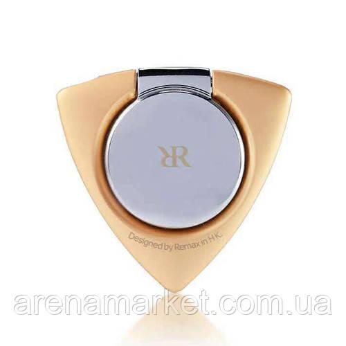 Тримач для телефону на палець Remax Twister Ring Holder ZH-02 - золотий